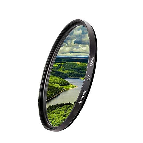 Andoer 77 mm Lente de UV Filtro de UV filtro protector UV Ultra-Violeta para Canon Nikon DSLR cámara