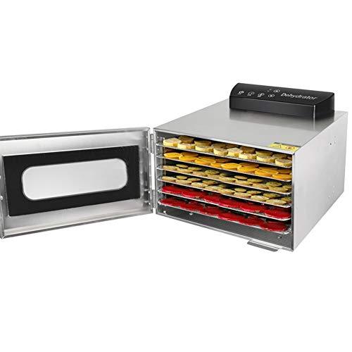 Essiccatore per alimenti, in acciaio inox con Vassoio a 6 strati, 400 W, Temperatura regolabile 35 -90 , Schermo LCD, per frutta, verdura, pasta(EU Plug)