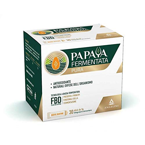 Energya Papaya Fermentata Pura, Integratore Alimentare Antiossidante, Integratore per Difese Immunitarie, 30 Bustine