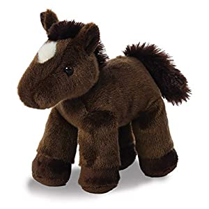 Aurora Flopsies World - Caballo de Peluche (marrón, 20,32 cm)