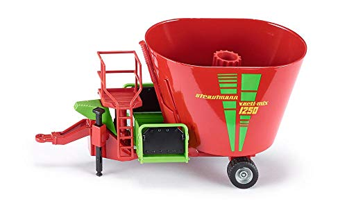 siku 2450, Strautmann Futtermischwagen, 1:32, Metall/Kunststoff, Rot, Beweglicher Futtermischer
