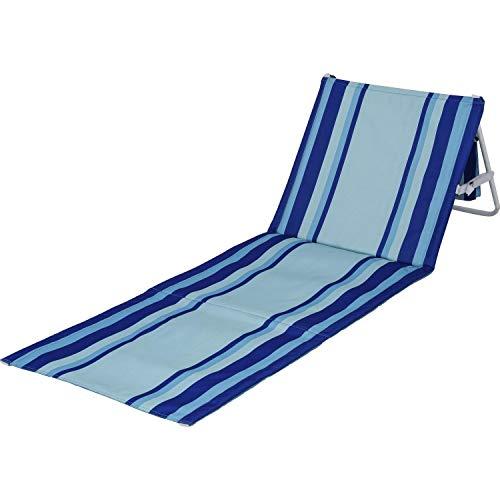 BERGER Beachline Strandmatte Matte Garten Liege Stuhl bis 120 kg Camping Strandliege verstellbar Tragegurt