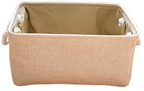 Jilibaba Cesta de almacenamiento tejida para almacenamiento de juguetes, cesta de mimbre para estantes,cesta de bebé forrada de almacenamiento, cesta rectangular pequeña para decoración de guardería