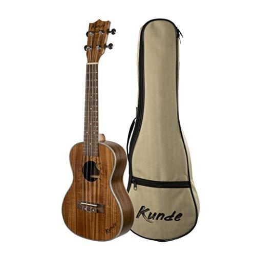 Ukulele Kunde Moon 23' Concerto realizzato con legno di Koa di alta qualità e corde Aquila, custodia imbottita da 5 mm inclusa.