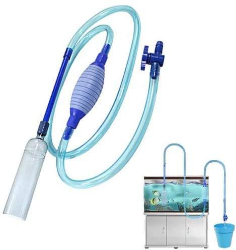 AUVSTAR Aquarium-Reiniger, Vakuum-Wasserpumpe, Kies-Sand, Aquarium-Wasserfilter mit Durchflusskontrollhahn