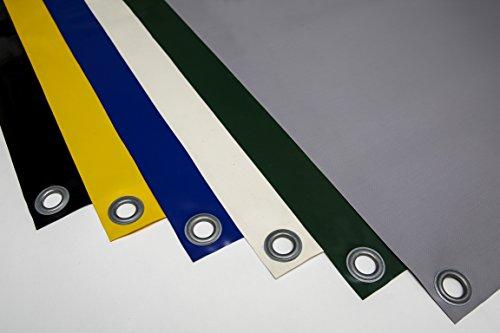 (2,5m breit) LKW Plane/PVC-Plane 680-700 g/m² mit ÖSEN (Rundösen) - Abdeckplane, Schutzplane Containerplane, Carport, Camping, Holz, Winterplane, Bootsplane
