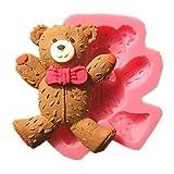 lllzz Cute mit Krawatte Teddy Bear Fondant Kuchen Formen Seife Schokolade Form für die Küche Backen Kuchen Werkzeug Dekoration