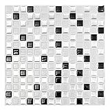 DIY Fertigkeit-Charme 3D Brick-Mosaik-Fliese Wand-Papier-Folie Badezimmer Küche Wohnkultur...