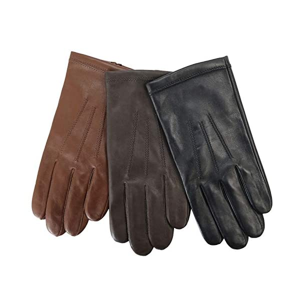 Fownes Brothers & Company mens Leather Glove W/ Cashmere Lining