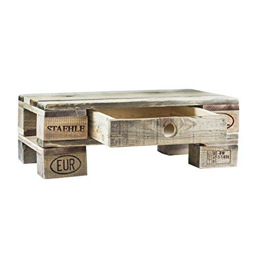 Palettenmöbel Beistelltisch, Loungetisch Bondi, Neuholz gebeizt in klassischer Paletten Optik, jedes Teil ist einzigartig und Wird in Deutschland in Handarbeit gefertigt