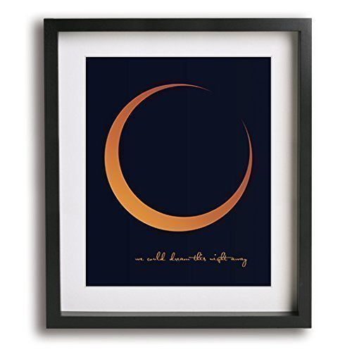 Harvest Moon by Neil Young inspired song lyric wall art print, romantic anniversary gift idea