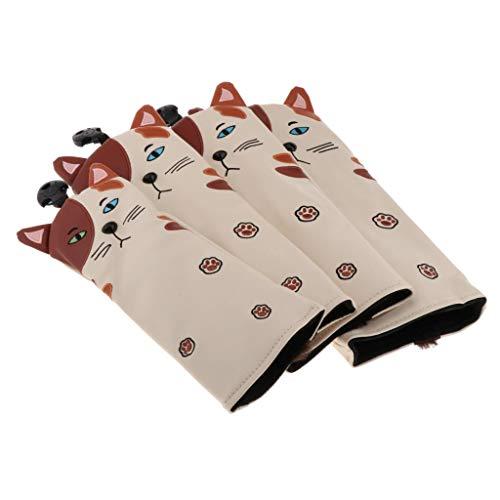 SM SunniMix 4 stück Golf Headcover Golfschläger Schutzhülle Holzkopfhüllen für Mizuno