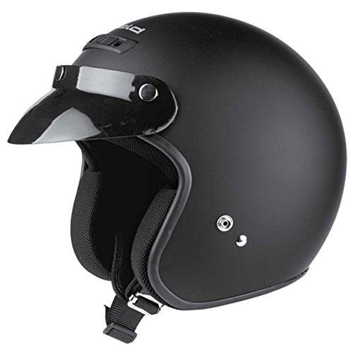 Held Rune Jet-Helm Schwarz-Matt - Größe: M