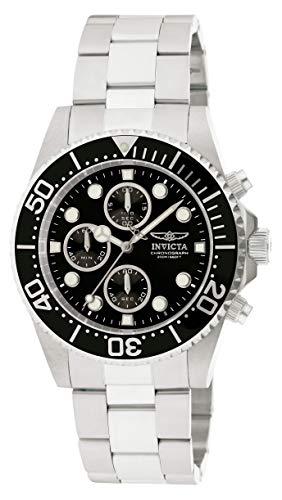 Invicta Pro Diver 1768 Reloj para Hombre Cuarzo, 43mm, Negro/Plateado