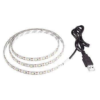 Lemonbest 2m Resin Flexible USB LED Lights Strip Ribbon 3528smd 120leds 5V Waterproof Cool White