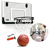 TRHCBY Hanging Door Basketball Board Without Punching Transparent Hanging Mini Small Backboard