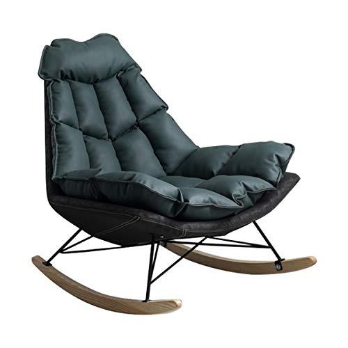 Akzent-Schaukelstuhl, Bequemer Entspannungs-Loungesessel Für Zu Hause Oder Im Büro,Freizeitdekoration Für Faulen Sofamöbeln Mit Einfachem Liegestuhl,Langlebiger Lesesessel Für Das Wohnzimmer,Grün