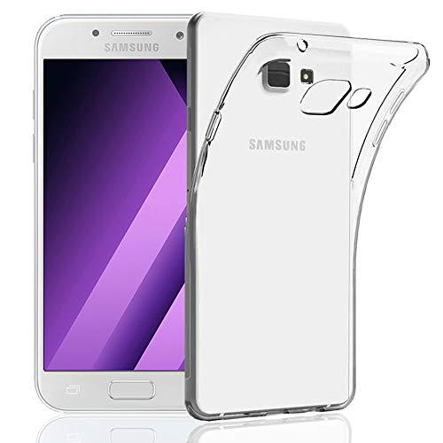 NewTop Cover Compatibile per Samsung Galaxy A3/A5/2016/2017, Custodia Morbida TPU Clear Silicone Trasparente Slim Sottile Posteriore (per A5 2017)