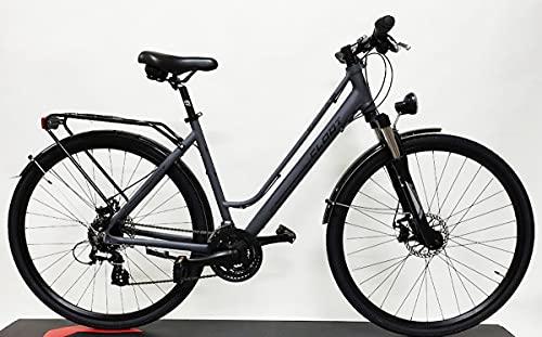 CLOOT Bici híbrida o Urbana Adventure 7.2 Disc,Bicicleta con Frenos de Disco, Horquilla con Bloqueo. Talla L (1.74 a 1.88)