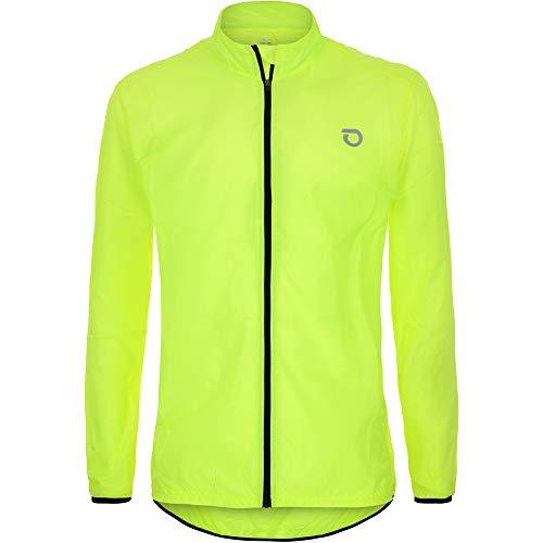 Briko Fresh Packable Jacket Chaqueta Cortavientos Ciclismo, Hombre, Green Lime, XXL