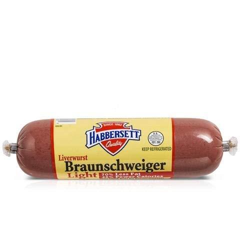 Habbersett Braunschweiger Liverwurst 8 Oz (12 Pack)