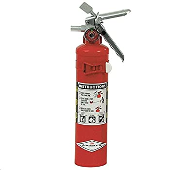 Amerex B417T 2.5 Pound Stored Pressure ABC Dry Chemical 1A 10B C Multi-Purpose Fire Extinguisher for Class A B and C Fires with Anodized Aluminum Valve Vehicle Bracket and Nozzle 15.34 fl oz.