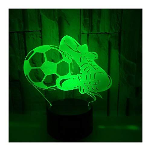 Stimmungslichter 3D Fußballschuhe Bunte Weihnachtsdekoration Geschenke Kleine Tischlampen. Fernbedienung Schalter