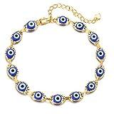 choice of all Evil Eye Ankle Bracelet for Women,Navy Blue Evil Eye Bearfoot Chain Gold Anklets for Girls (Blue Evil Eye)