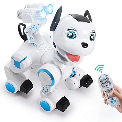 SGILE Juguete Robot, RC Robot para Niños Tener Modo de Patrulla, Interactivo...