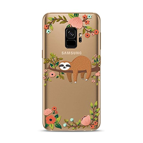 Samsung Galaxy S9 Case,Blingy's New Fun Animal Style Transparent Clear Soft TPU Protective Rubber Case for Samsung Galaxy S9 (Sleeping Sloth)