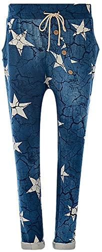 FASHION YOU WANT Jogginghose Sweatpants Sterne Boyfriend Ali Baba Style (38/40, Stern blau)