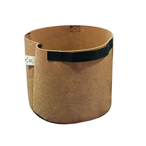 1 Stück Pflanzsäcke Pflanztasche Pflanzbeutel Pflanzgefäß Pflanzsack Pflanzbehälter Pflanzkübel | Gurt-Griffe Gärtnerei Gewächshaus Pflanztopf Grow Bag Pflanzen Taschen (10Gallon, Braun)