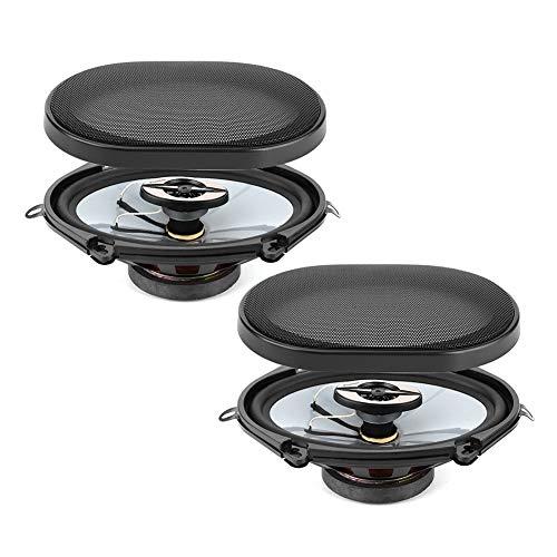 2 uds 380W Altavoces coaxiales de Audio para Coche Altavoz 5x7in estéreo coaxial de Alta fidelidad para Panel de guantera de Maletero de Puerta de Coche