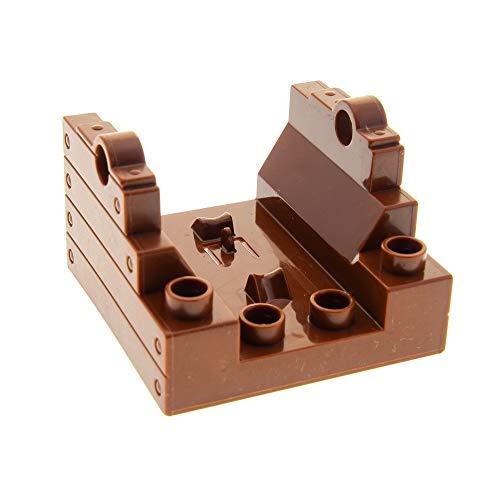 LEGO 1 x Duplo Kanone Halter Reddish rot braun 4x4 Sockel Cannon Base für Set Piraten Boot Schiff Ritter Burg Zirkus 4864 7881 54849