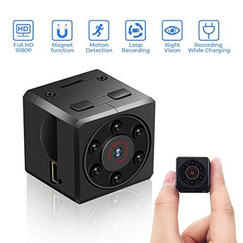 euskDE Mini Kamera, HD 1080P Tragbare Kleine Überwachungskamera Sicherheit Kamera,Mikro versteckte Kamera mit Bewegungserkennung und Infrarot Nachtsicht