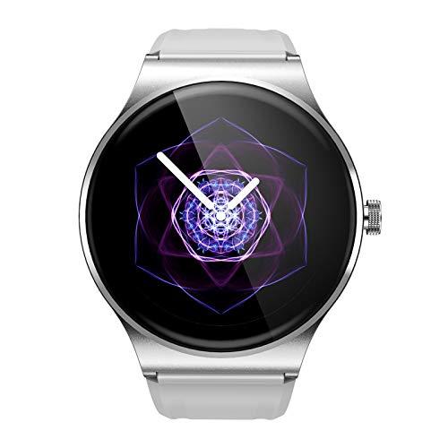 BNMY Reloj Inteligente Mujer Y Hombre Smartwatch Impermeable IP67 Pulsera Actividad Deportivo con Monitor De Sueño, Pulsómetro, Pantalla Táctil Completa Reloj Fitness para Android Y iOS,Blanco