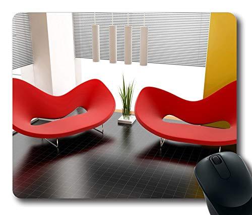 Personalisierte benutzerdefinierte Gaming-Mauspad Oblong geformte moderne rote Sofas Design Natural Eco Rubber Langlebiger Computer Schreibtisch Schreibwaren Zubehör Mauspads für Geschenk