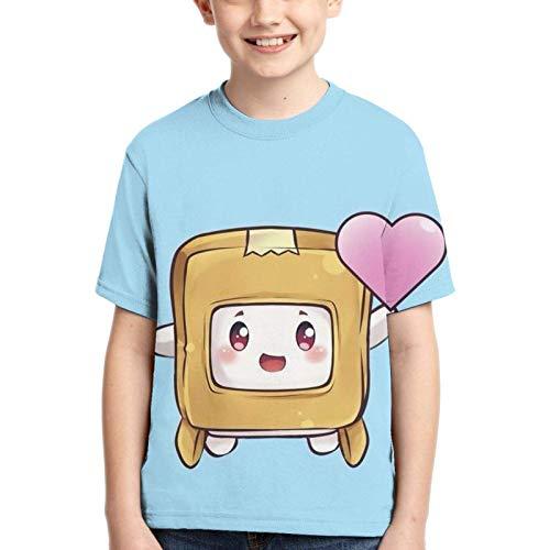 huatongxin Lanky-Box niños y niñas Adolescentes Camisetas de Cuello Redondo Moda Verano Camisetas de Manga Corta