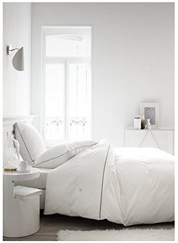 TODAY Housse de Couette et Taies d'oreiller, Blanc, 240 x 260 cm
