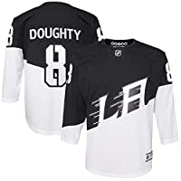 OuterStuff Youth Los Angeles Kings Drew Doughty Black Stadium Series Premier Player Jersey Youth Sizes (Youth S/M)
