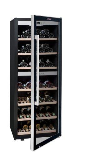 La Sommelière ECS135.2Z Weinkühlschrank / 159 cm Höhe/Multizonen Weinkeller Service Kompressor/Digital-Anzeige der Temperatur/edelstahl und schwarz