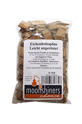 \'Moonshiners Choice\' Holzspäne Eiche ❀ leicht geröstet ❀ zum Aromatisieren von Alkohol
