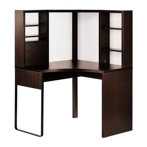 IKEA(イケア) MICKE ブラックブラウン 100x141 cm 30244742 コーナーワークステーション、ブラックブラウン