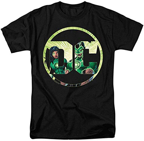 Camisetas de Manga Corta para Hombres y Mujeres Patrón Interesante Linterna Verde Logotipo de DC Comics Camiseta Pegatinas 4XL
