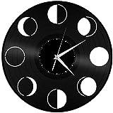 szhao Reloj de Pared de Vinilo con Fase Lunar, Regalo de diseño único para el hogar y la decoración de la habitación de los Amigos