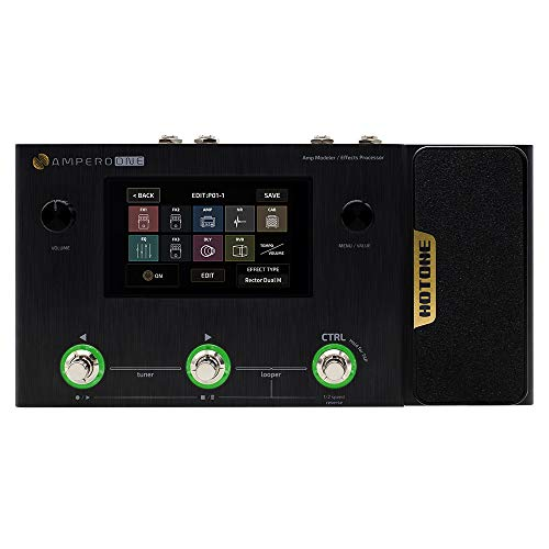 Hotone Ampero One MP-80 Guitar Bass Amp Modeling IR Cabinets Simulation Multi Language Multi-Effects with Expression Pedal Stereo OTG USB Audio Interface