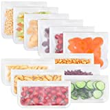 Gaoyong Bolsas Silicona Reutilizables,Foodzip,Bolsas de Silicona Reutilizables,Bolsas Zip,Bolsas Reutilizables Silicona(12 Piezas)