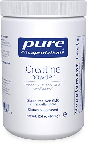 Pure Encapsulations Creatine Powder | Creatine Monohydrate Workout Supplement for Muscle Building and Recovery, Exercise, and Performance* | 17.6 Ounces