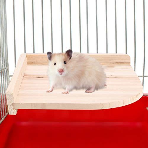 HEEPDD Hamster Platform, Ventilator Pedaal Speeltuin Natuurlijke Hout Springboard Stand Speelgoed voor Kleine Dieren Muis Chinchilla Eekhoorn Gerbil