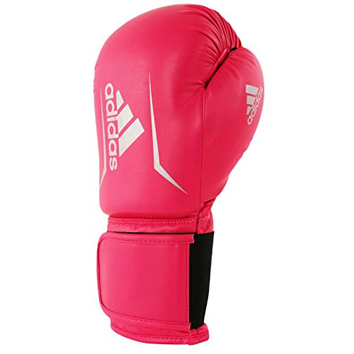adidas Adultos Speed 50 adisbg50, Guantes de Boxeo, 12 oz, Color Rosa y Plateado